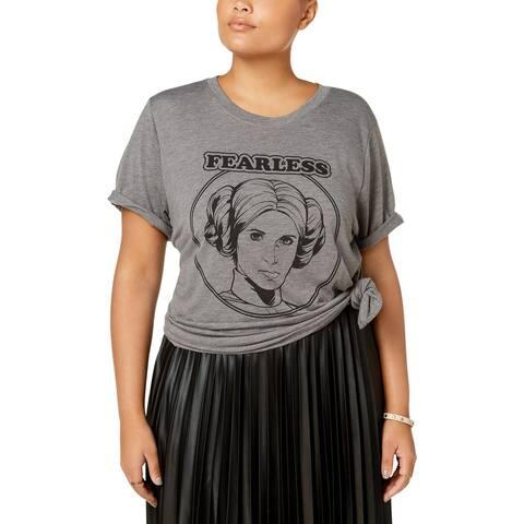 Star Wars Womens Plus T-Shirt Graphic Short Sleeves