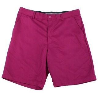 Tasso Elba NEW Plum Purple Mens Size 34 Flat Front Casual Shorts