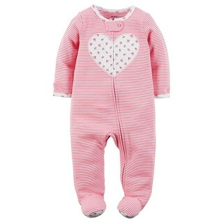 Carter's Baby Girls' Cotton Zip-Up Sleep & Play, Newborn