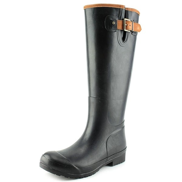 Sperry Top Sider Walker Haze Women Round Toe Synthetic Black Rain Boot
