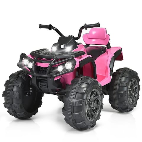 Costway 12V High-end Kids ATV Quad 4 Wheeler Ride On Car 2 Speed w/MP3 LED Lights