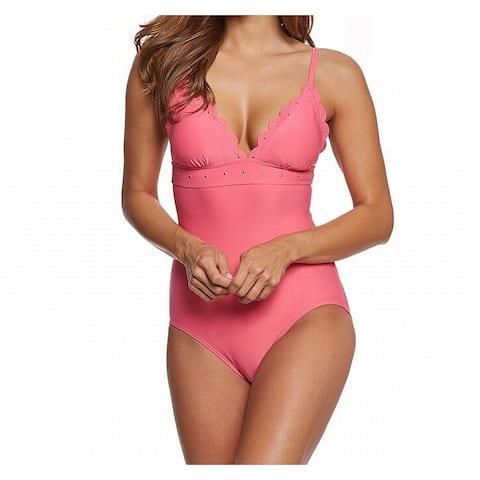Kate Spade Pink Women's Size XS One-Piece Scalloped Swimwear