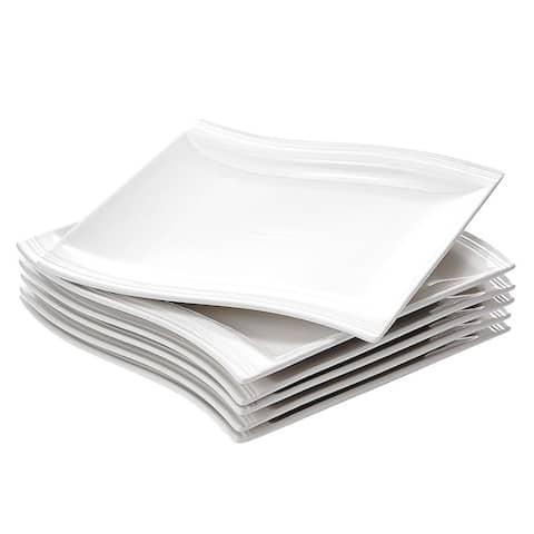 MALACASA, Series Flora, 6-Piece Dessert Plate Dinner Plate