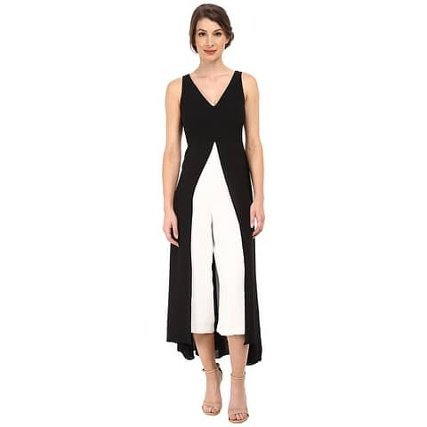 699e7b40d3fd4 Adrianna Papell Women's Color blocked Overlay Culottes Jumpsuit