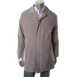 Calvin Klein Mens Solid Long Sleeves Basic Coat - 40L