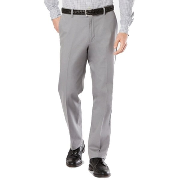 Dockers Mens Pants Gray Size 38X29 Khaki Classic Fit Solid Stretch. Opens flyout.