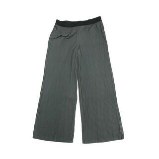 Alfani Urban Olive Pinstripe Knit Palazzo Pants XL - X-LARGE