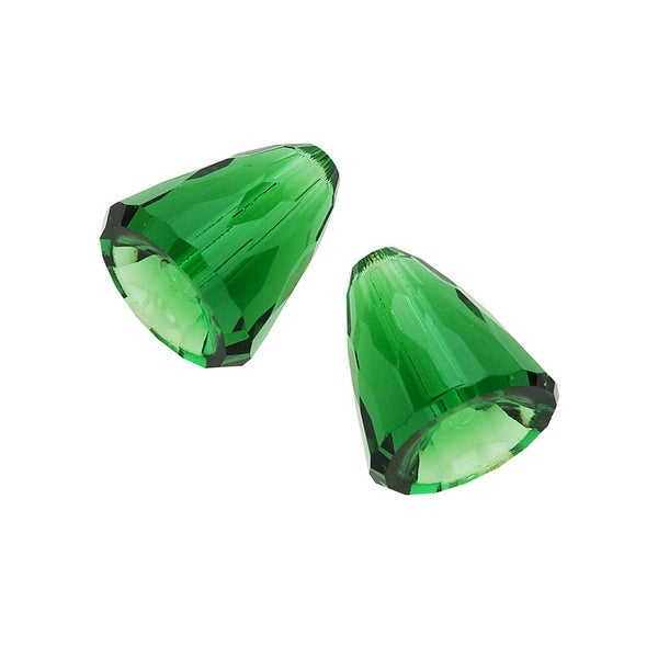 Swarovski Crystal, 5541 Dome Beads 11mm, 2 Pieces, Dark Moss Green