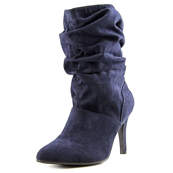 Style & Co Adelay Women  Pointed Toe Canvas Blue Mid Calf Boot