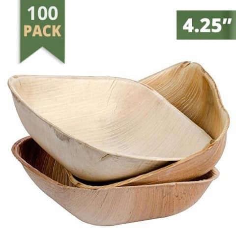 Catereco 4.25 n. Square Areca Bowl Set 100 Pcss Pack - 100 PC