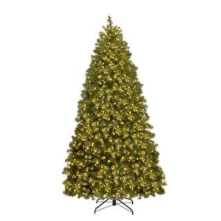 Gymax Pre-Lit 6' Artificial PVC Christmas Tree Hinged 560 LED Lights