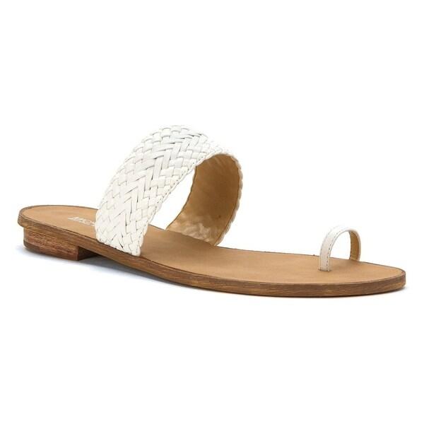 MICHAEL Michael Kors Womens Daniella Leather Open Toe Casual Slide Sandals - 9