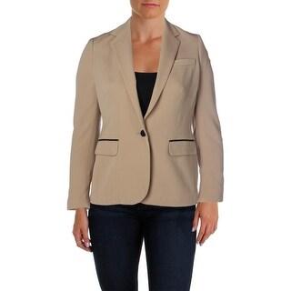 Lauren Ralph Lauren Womens Oakley Notch Collar Lined One-Button Blazer - 14