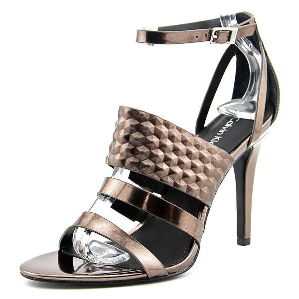 Calvin Klein Mayra Open Toe Synthetic Sandals - Metallic. Opens flyout.