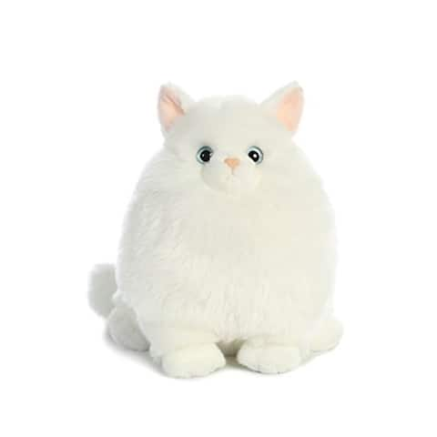 Aurora World Fat Cats Marshmallow the Persian Plush - White