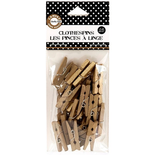 Shop Mini Clothespins 1 25 Pkg Gold Gold Free Shipping On