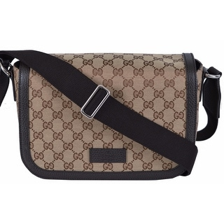 Gucci 449172 GG Guccissima Canvas Medium Crossbody Messenger Bag Purse