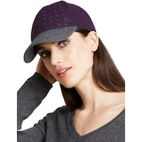 August Accessories Ladies Purple and Grey Studded Baseball Cap One Size