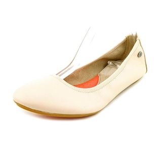 Hush Puppies Chaste Ballet Women Round Toe Leather Nude Ballet Flats