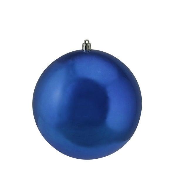 "Shiny Lavish Blue UV Resistant Commercial Shatterproof Christmas Ball Ornament 6"" (150mm)"