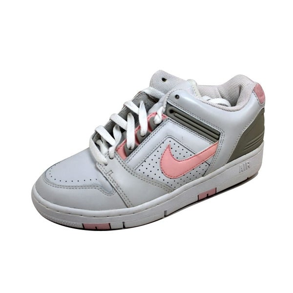 Nike Women's Air Force II 2 Low White/Light Carnation-Neutral Grey 307877-161 Size 9