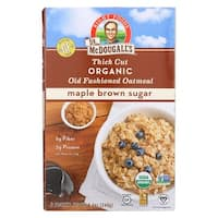 Dr. McDougall's Thick Cut Organic Maple Brown Sugar Oatmeal - Case of 8 - 8.4 oz.