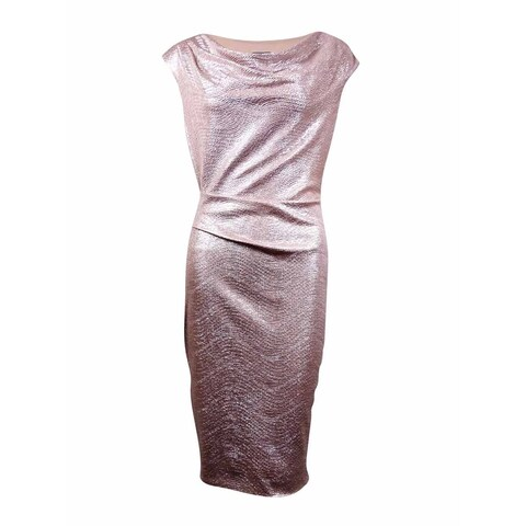 Vince Camuto Women's Metallic Cowl Neck Dress
