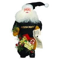 "10"" NCAA Missouri Tigers Gift Bearing Santa Claus Christmas Table Top Figure - Black"