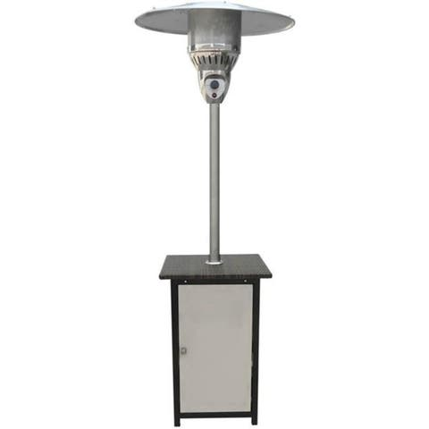 Hanover HAN022SSWCK 7 Ft. 41000 BTU Square Steel Patio Heater with Stainless Steel Finish