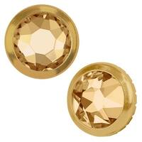 Swarovski Crystal, 2078/H Framed Round Flatback Rhinestone 5.2mm, 12 Pieces, Crystal Golden Shadow / Gold
