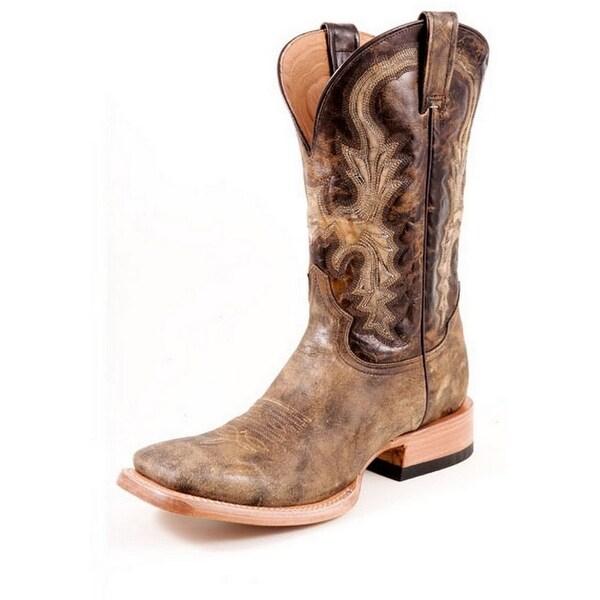 Stetson Western Boots Mens Wild Pig Brown