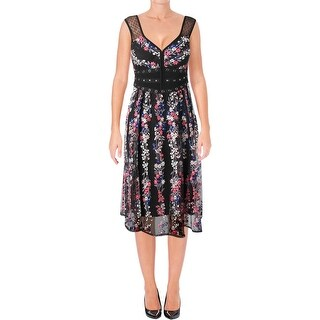 Nanette Lepore Womens Michelle Special Occasion Dress Sleeveless Midi - 2