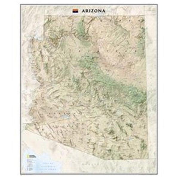 Arizona State Map Free.Shop National Geographic Maps Re01020398 Arizona State Wall Map
