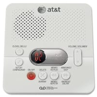 AT&T ATT1740 Digital Answering System with Min Record Time, White