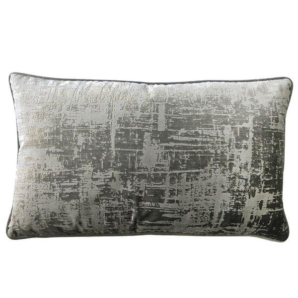 Shop Rodeo Home Halston Cut Velvet Distressed Lumbar Pillow Overstock 31723606