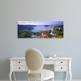 Easy Art Prints Panoramic Images's 'Town On The Waterfront, Hvar Island, Hvar, Croatia' Premium Canvas Art
