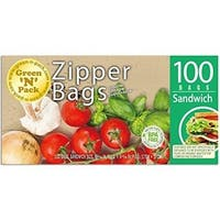 Green N Pack Zipper Food Freezer Bags (Sandwich)