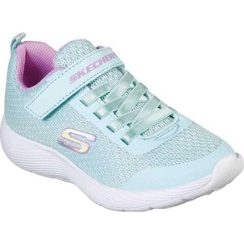 Skechers Girls' Dyna-Lite Sneaker Aqua/Purple