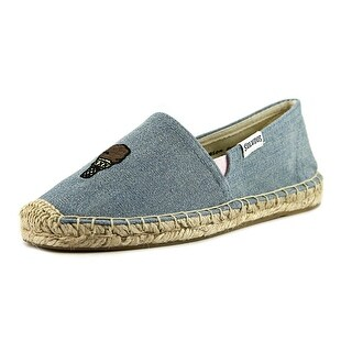 Soludos Jason Polan Youth Round Toe Canvas Blue Espadrille