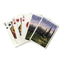 Glacier National Park Moose & Baby Calf LP Artwork (Poker Playing Cards Deck)