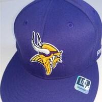 5c795527f9a334 Minnesota Vikings Mens Size L/XL Reebok Flatbrim Stretch Fit Hat $25. Sale