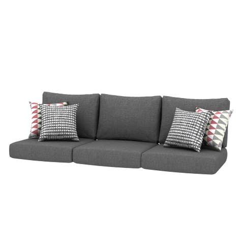 Sofa Outdoor 24x24 Replacement Cushions with Pillows