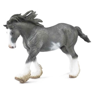 Breyer 1:18 Corral Pals Horse Collection: Black Sabino Roan Clydesdale Stallion