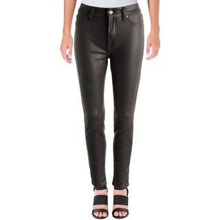 7 For All Mankind Womens Skinny Pants Faux Leather Printed - 28