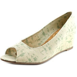 Movmt Grace Wedge Women Open Toe Canvas Ivory Wedge Heel