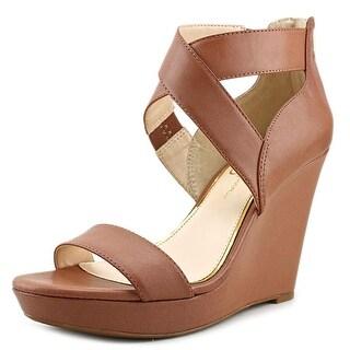 Jessica Simpson Jamilee Women Open Toe Leather Wedge Heel