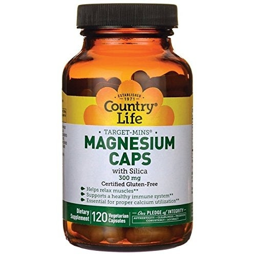 Country Life Target-Mins Magnesium Caps with Silica - 120 Vegetarian Capsules
