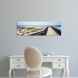 Easy Art Prints Panoramic Images's 'Boardwalk towards beach, Bon Secour National Wildlife Refuge, Alabama' Canvas Art
