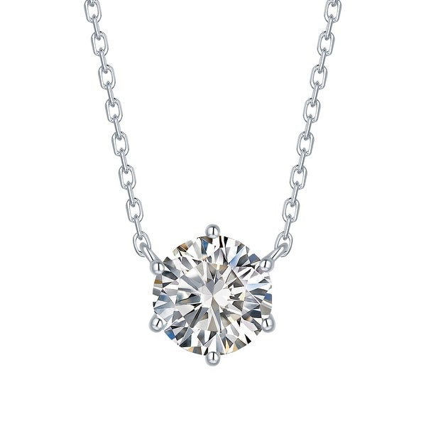 Smiling Rocks 0.79Ct G-H/VS1 Lab Grown Diamond 6-Prong Solitaire Necklace