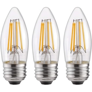 Link to LED Filament Candelabra Bulb, 4.5W (60W Equiv.), UL-Listed Vintage Style E26 Lamp Bulb Soft White 2700K Similar Items in Light Bulbs